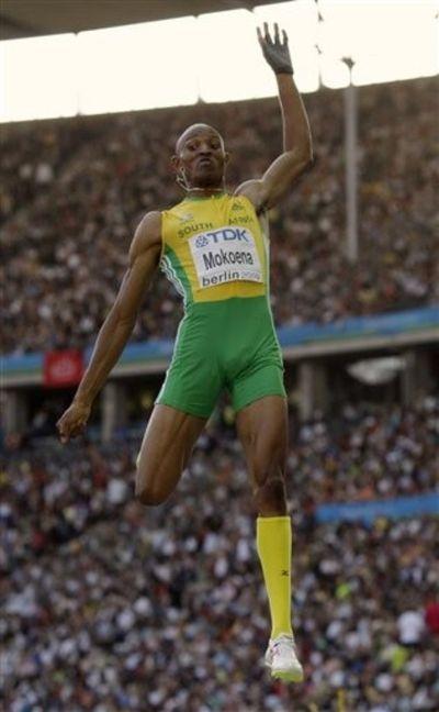 Godfrey Khotso Mokoena silver long jump 5