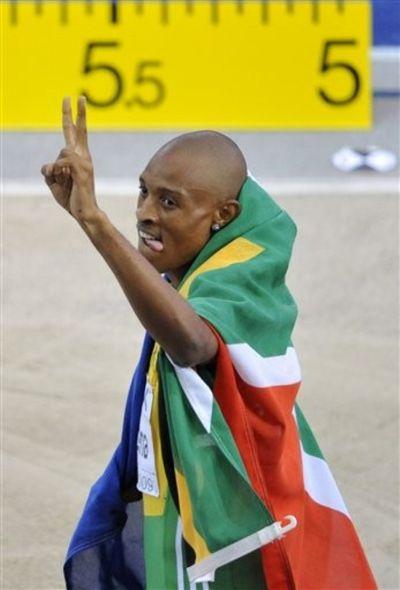 Godfrey Khotso Mokoena silver long jump 6