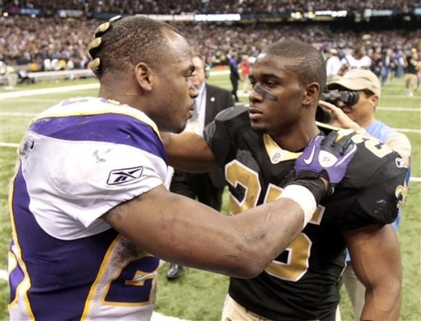 Reggie bush and adrian peterson