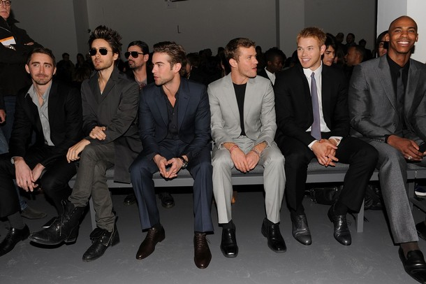 Calvin klein show Jared Leto, actors Chace Crawford, Ryan Phillippe and Kellan Lutz Mehcad Brooks