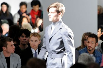 Calvin klein show Ryan Phillipe, Kellan Lutz, and athlete Hidetoshi Nakata