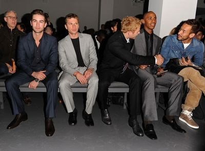 Calvin klein show Actors Jared Leto, Chace Crawford, Ryan Phillipe and Kellan Lutz, Mehcad Brooks and athlete Hidetoshi Nakata