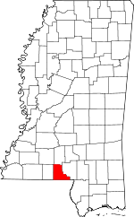 MAP Walthall County Mississippi