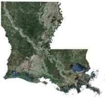 Louisiana Satellite Map 215