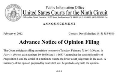 2012_02_07_Prop 8 9th Circuit Ruling Notice