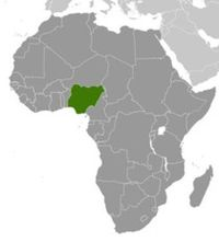 Nigeria Locator Map 210